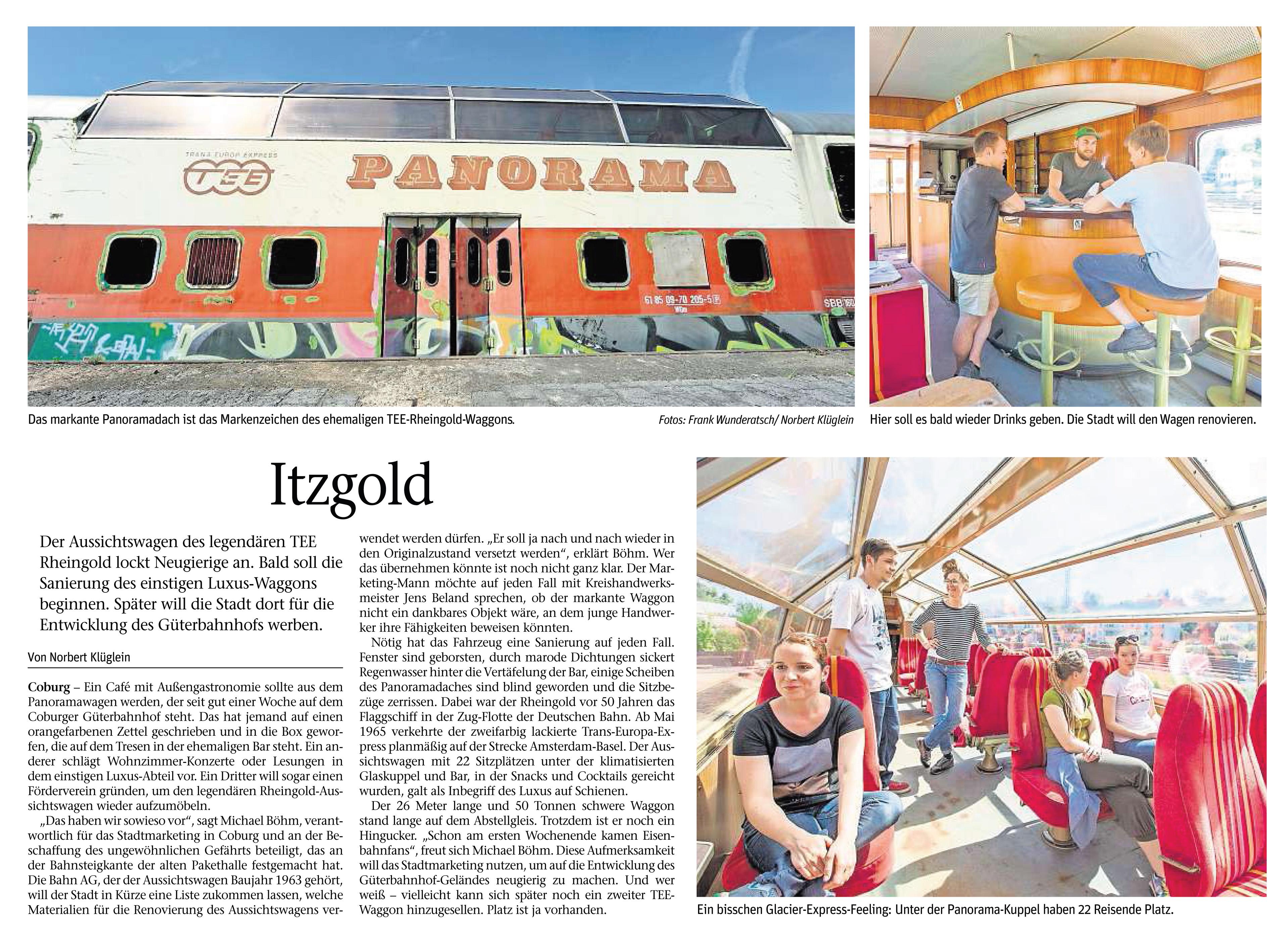 Neue Presse 17.05.2017 Itzgold